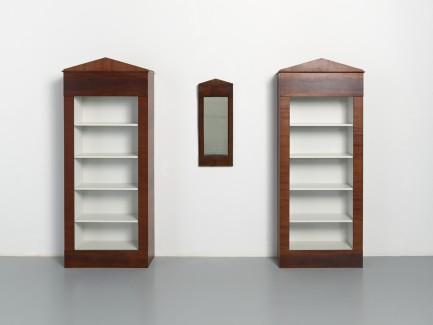 Paul Beckman, Twee boekenkasten naar antieke spiegel, 1987 (collectie Museum Boijmans Van Beuningen)