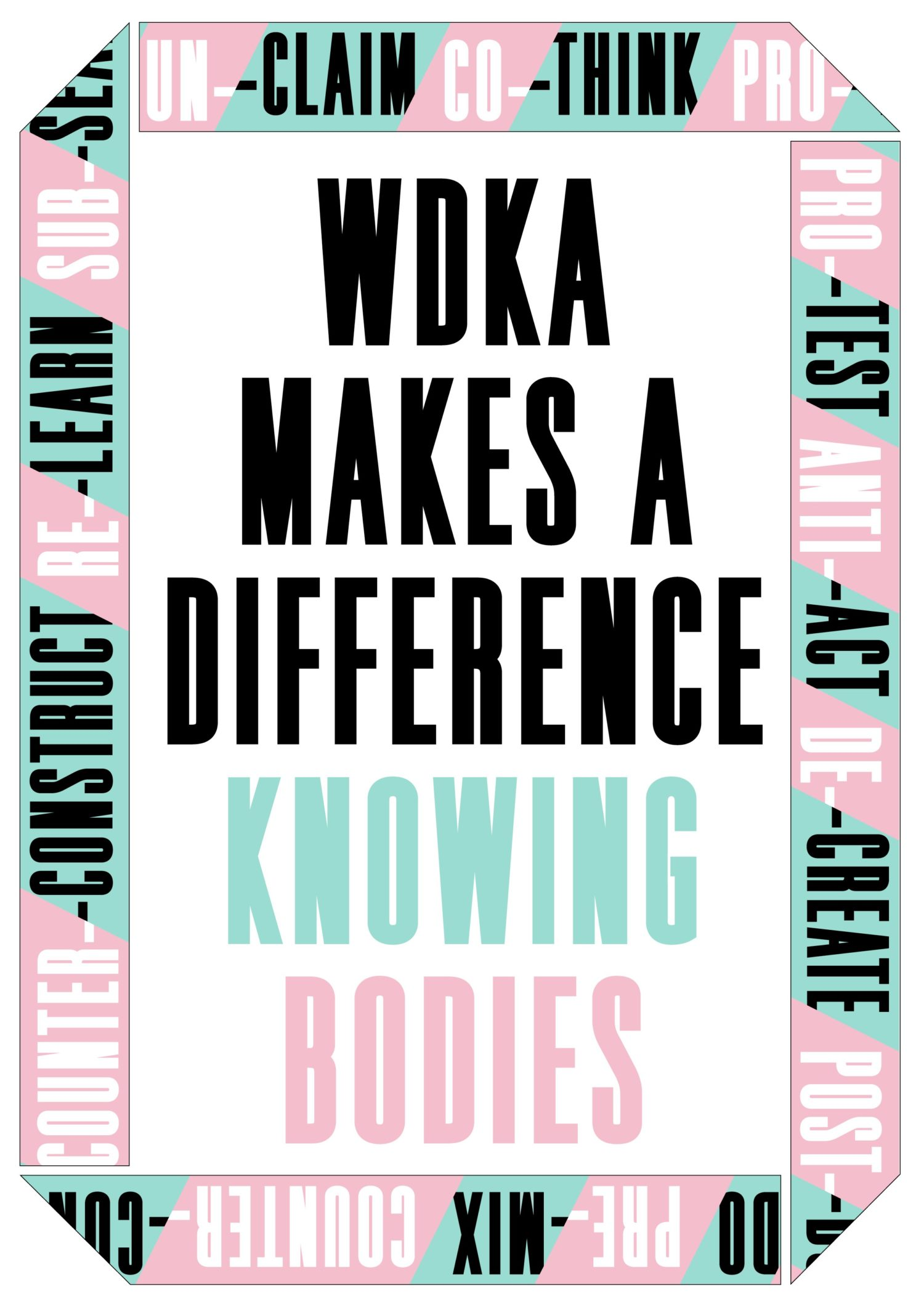 WDKA MAKES A DIFFERENCE – KNOWING BODIES