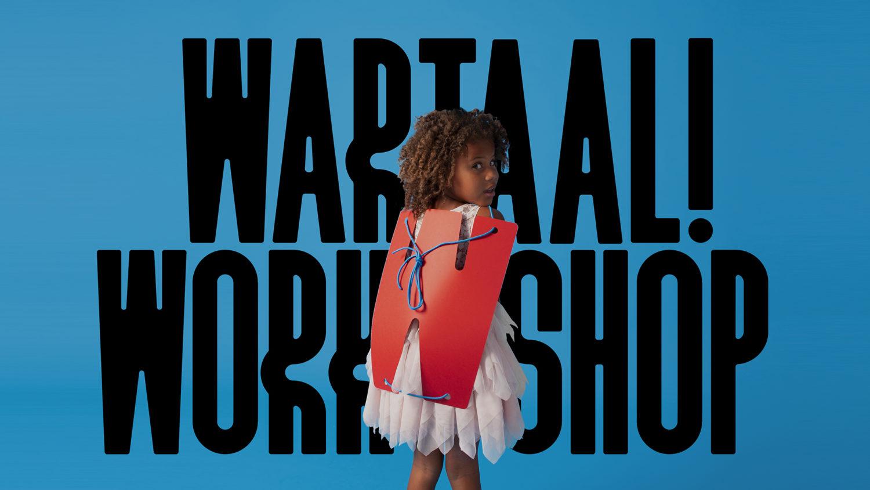 Atelier wartaal kids workshop met Gino van Weenen